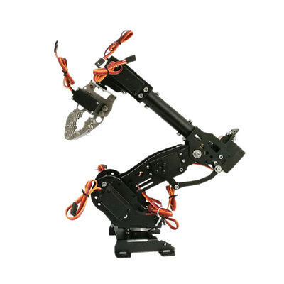 WIFI Metal 8DOF Robot Arm Gripper Kit 15kg/cm Servo Power Suite Black