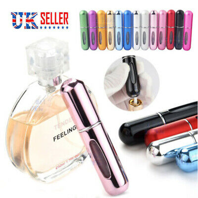 Perfume Atomiser Bottle Aftershave Atomizer 5ml Pump Travel Refillable Spray