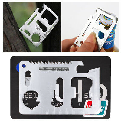 New 11in1 Multi Pocket Tools Outdoor Hunting Camping Credit Card Survival