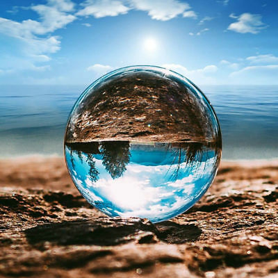 Clear Glass Crystal Ball Healing Sphere Photography Photo Props Gifts 50-100mm