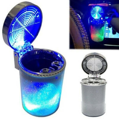 LED Portable Car Light Vehicle Smoke Cigarette Ashtray Holder Cup Stand Holder