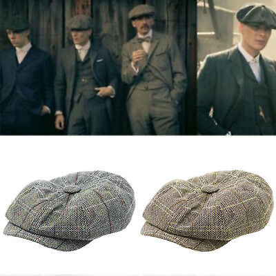 Peaky Blinders Wool Blend Bakerboy Tweed Newsboy Ivy Hat Country Gatsby Flat Cap