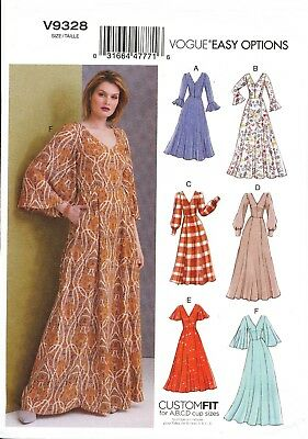 Vogue Sewing Pattern 9328 Misses Sz 6-14 Easy Custom Fit V-Neck Dresses & Maxis