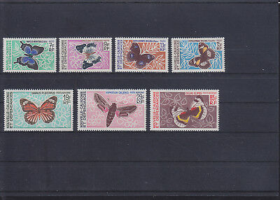 068814 Schmetterlinge Butterfly Nouvelle Caledonie 438-44 ** MNH Year 1967