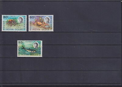 068839 Fische Fish ... British Indian Ocean Territory 36-38 ** MNH Year 1970