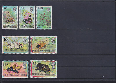 068842 Insekten Insects British Indian Ocean Territory 54-56+86-90 ** MNH 73/76