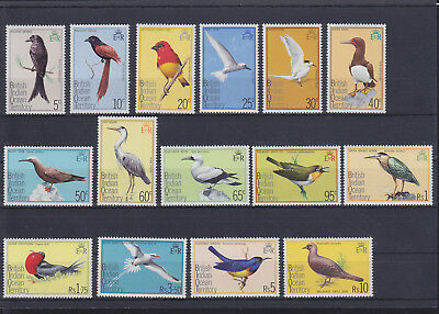 068843 Vögel Birds British Indian Ocean Territory 63-77 ** MNH Year 1975
