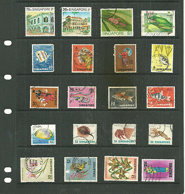 Commonwealth Singapore  one stock sheet mix collection stamps