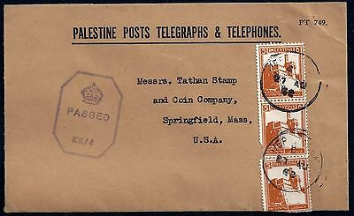Palestine 1942 Us Official Palestine Posts Telegraphs & Telephone From The Post