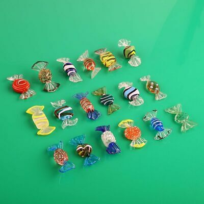 18pcs Vintage Murano Glass Sweets Candy Christmas Decorations Kids Ornament