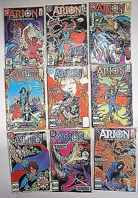 Dc Comics- Arion Lord Of Atlantis- Jan -Sept 1985 Lot Of 9 All In Plastic Covers