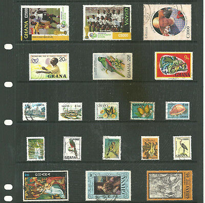 Commonwealth Ghana   one stock sheet mix collection stamps