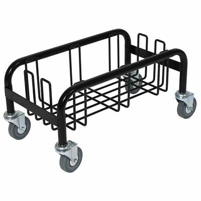 Continental 8320 Wall Hugger Black Wire Dolly For Waste Receptacle
