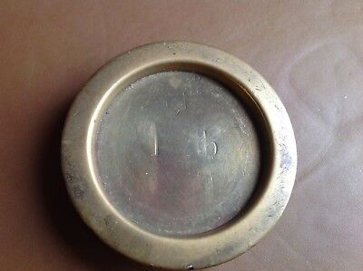 Old Brass Weight 1 Lb Avery