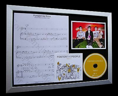 FOSTER THE PEOPLE Pumped Up Kicks LTD CD GALLERY QUALITY FRAMED DISPLAY+TORCHES!