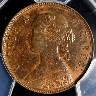 1876-H Newfoundland Large Cent 1c - PCGS AU53 Gold Shield Holder KM#1