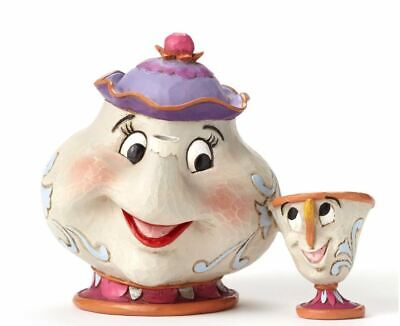 Jim Shore Disney Mrs. Potts and Chip Beauty and the Beast Figurine 4049622 New