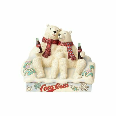 Jim Shore Coca Cola Polar Bear Couple Coke Christmas Figurine 4059475 New