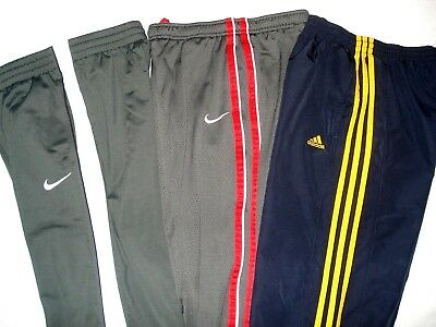 ADIDAS Boys ATHLETIC Navy Mesh Gray Red 14-16 FLEECE LOUNGE Sweat Pants 10-12