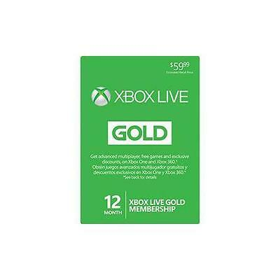 Xone Game Cards-Xbox Live 12 Month Sub Card (Preloaded) Xb1 New