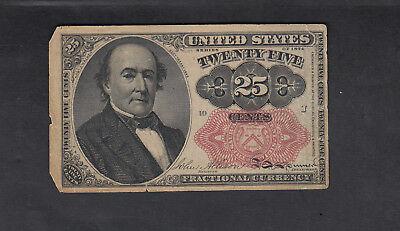 1874 Usa 25 Cents Bank Note