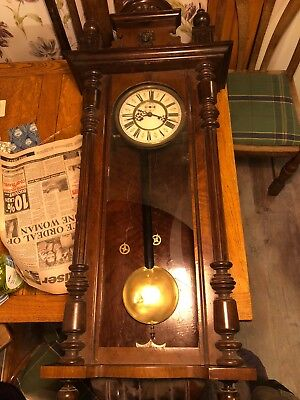 Antique wooden Pendulum  Wall Clock