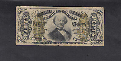 1863 Usa 50 Cents Bank Note
