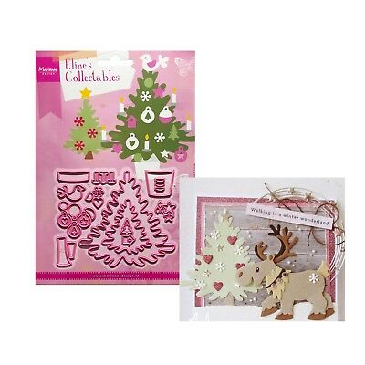 Eline's Christmas Tree Metal Die Cut Set Marianne Cutting Dies COL1459 Holidays
