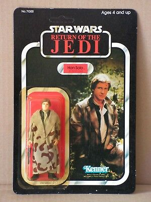 STAR WARS vintage Han Solo Trench Coat MOC 77-back, Kenner near perfect!