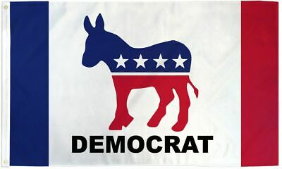 Democrat Donkey Polyester 3x5 Foot Flag Democratic Party Political Banner Ft