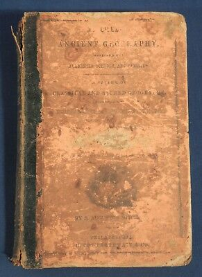 1858 Mitchell's Ancient Geography S. Augustus Mitchell Antique School Book NoMap