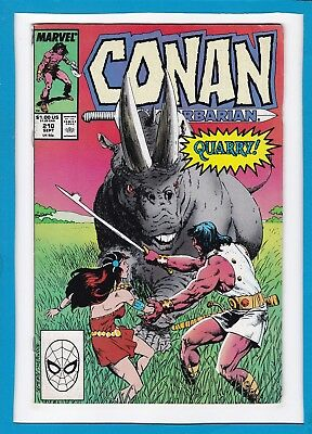 Conan The Barbarian #210_September 1988_Fine+_Marvel Sword And Sorcery!