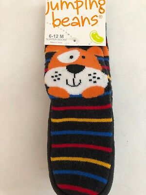 Jumping Beans 6-12 Months Slipper  Socks Dog New Free Ship Retail $14