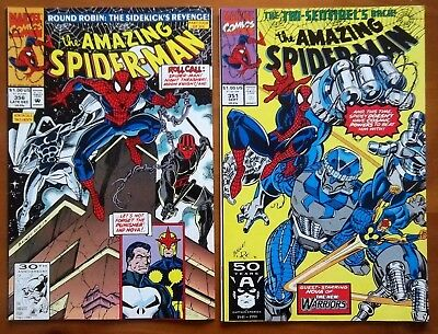 2 Marvel comics The Amazing Spider-Man # 351 and #356 from 1991