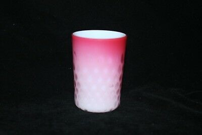 TS Victorian Satin Finished Air-trapped Diamond Pattern Cased Glass Tumbler!