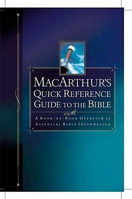Macarthur's Quick Reference Guide To The Bible, MacArthur, John, Good Book
