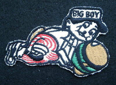 "BIG BOY RESTAURANT EMBROIDERED SEW ON PATCH HAMBURGER FOOD FRISCHS 4"" x 2 7/8"""