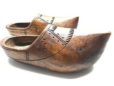 Dutch Wooden Shoes Hand carved Hand Painted Clogs