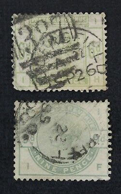 CKStamps:Great Britain Stamps Collection Scott#105 Victoria Used 2 Crease 1 Tear