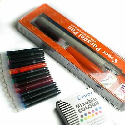 Pilot Parallel FP3-24 Calligraphy Pen - 1.5mm + FREE 12 Assorted Ink Cartridges
