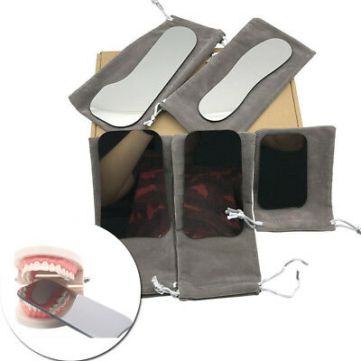 5Pcs Dental Intraoral Photographic Glass Mirror Rhodium Occlusal 2-Sided Reflect
