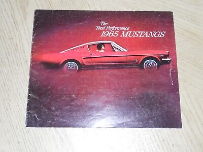 1965 Ford Sales Brochure Mustang Hardtop Convertible Fastback 2+2 Options GT 289