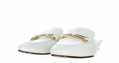 971c648a223 1428 Tory Burch Amelia White Leather Backless Bit Loafer Women s Sz 6 M