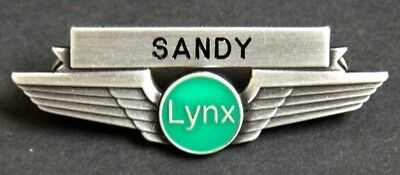 Lynx Airlines Flight Attendant Wing Badge Pin