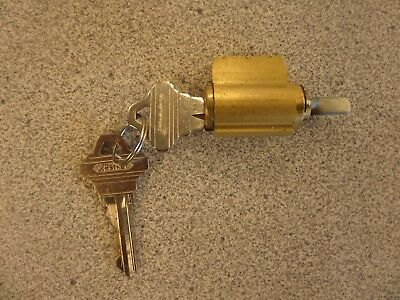 S. Parker 6 Pin Sc1 Keyway Lever Lock Cylinder Brass Finish