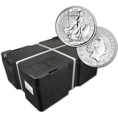 2019 Great Britain Silver Britannia £2 - 1 oz - BU - Sealed 500 Coin Monster Box