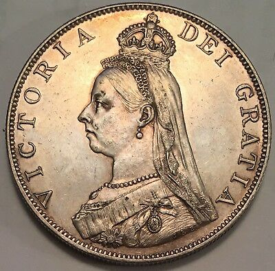 1887 Great Britian Double Florin Sterling Silver Coin