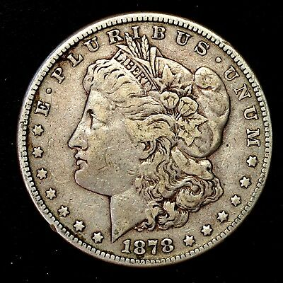 1878 S ~**1ST YEAR ISSUE**~ Silver Morgan Dollar Rare US Old Antique Coin! #A32
