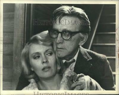 """1974 Press Photo Actress Jean Seberg in a scene of """"Mousey"""" with Kirk Douglas"""