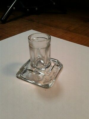 Vintage Sanfords Fountain Pen Ink Well Good Used Condition Clear Glass Neat Look